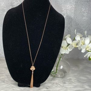 🆕 LC Lauren Conrad Gold Chain Necklace with Charm